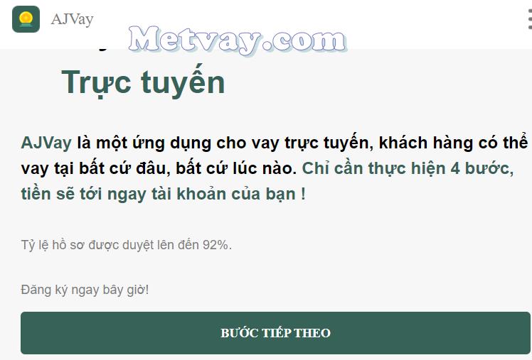 H5 AJVay vay tiền online