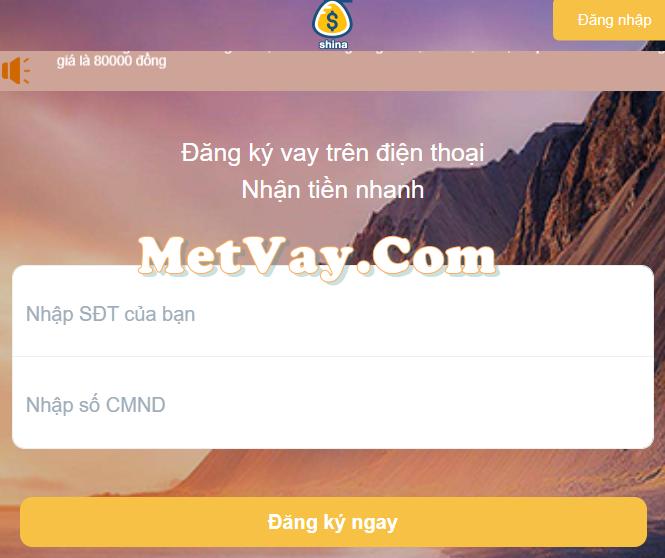 Shina.vn cho vay tiền online