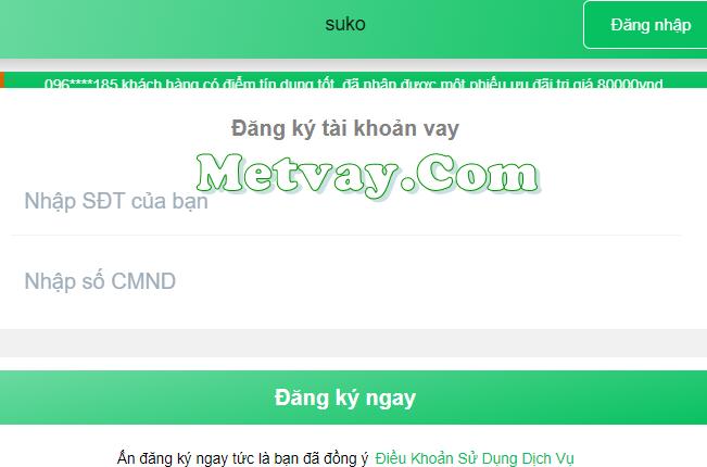 Suko.vn cho vay tiền online chỉ cần cmnd 24/7 tư vấn miễn phí