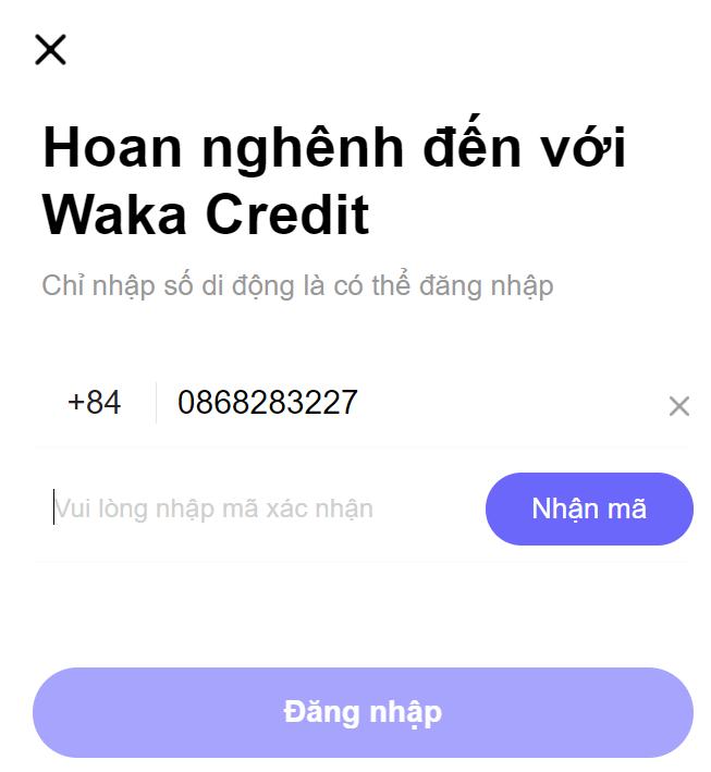 H5 waka credit vay tiền