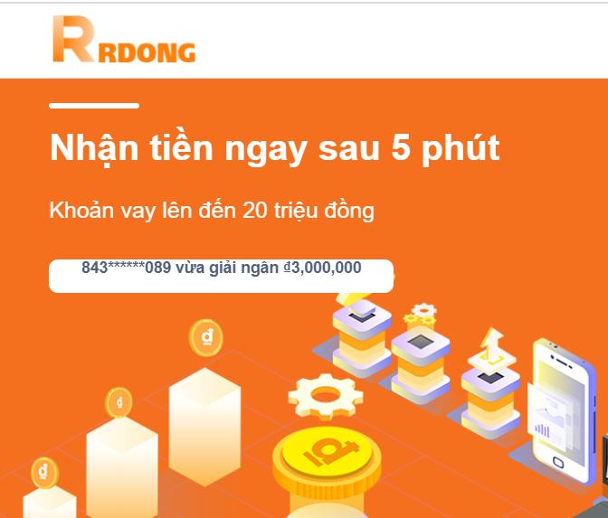 Rrdong vay tiền online