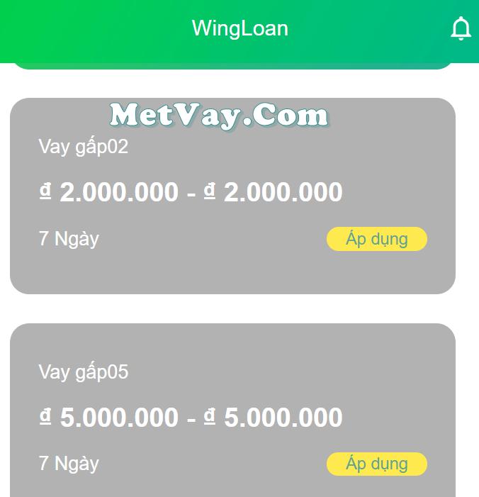 Vay tiền Wing loan