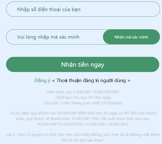 Vay tiền Vtvay.com