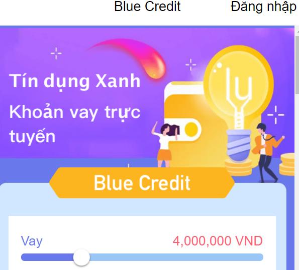 Blue Credit vay tiền